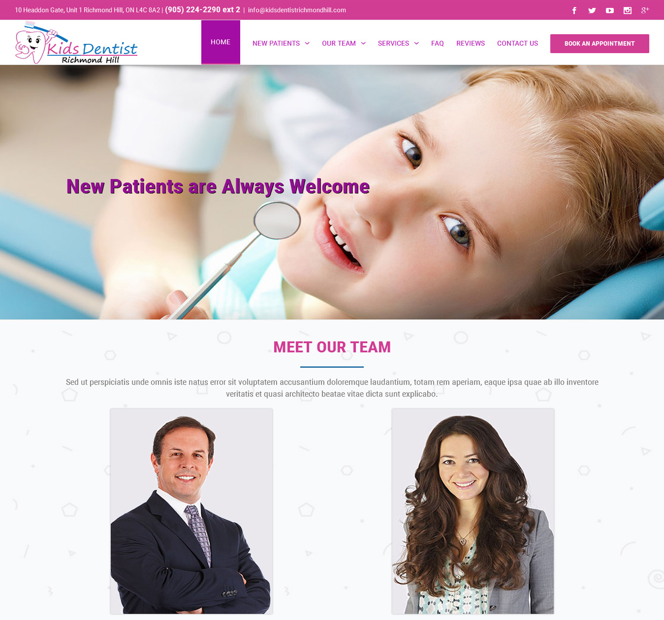 Kids Dentist - Portfolio