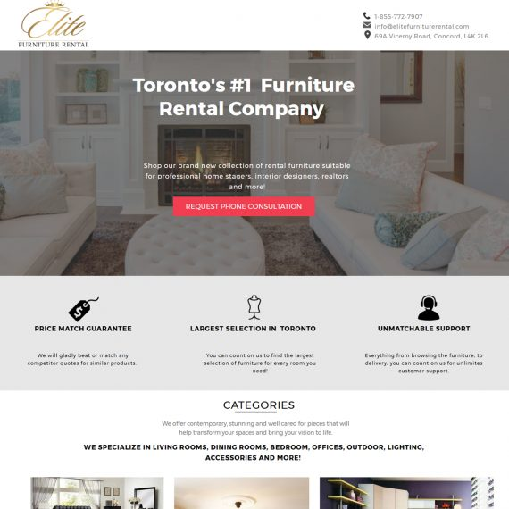 Elite Furniture Rental Portfolio